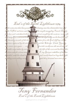 The End's of the Earth Lighthouse - signed print
